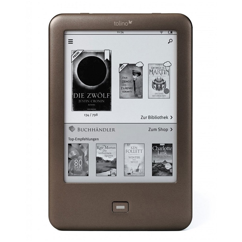 WiFi eBooks! e-book reader Tolino Shine e-ink 6 inch Touch Screen 1024x758 electronic Book 4GB better than kindle(China (Mainland))
