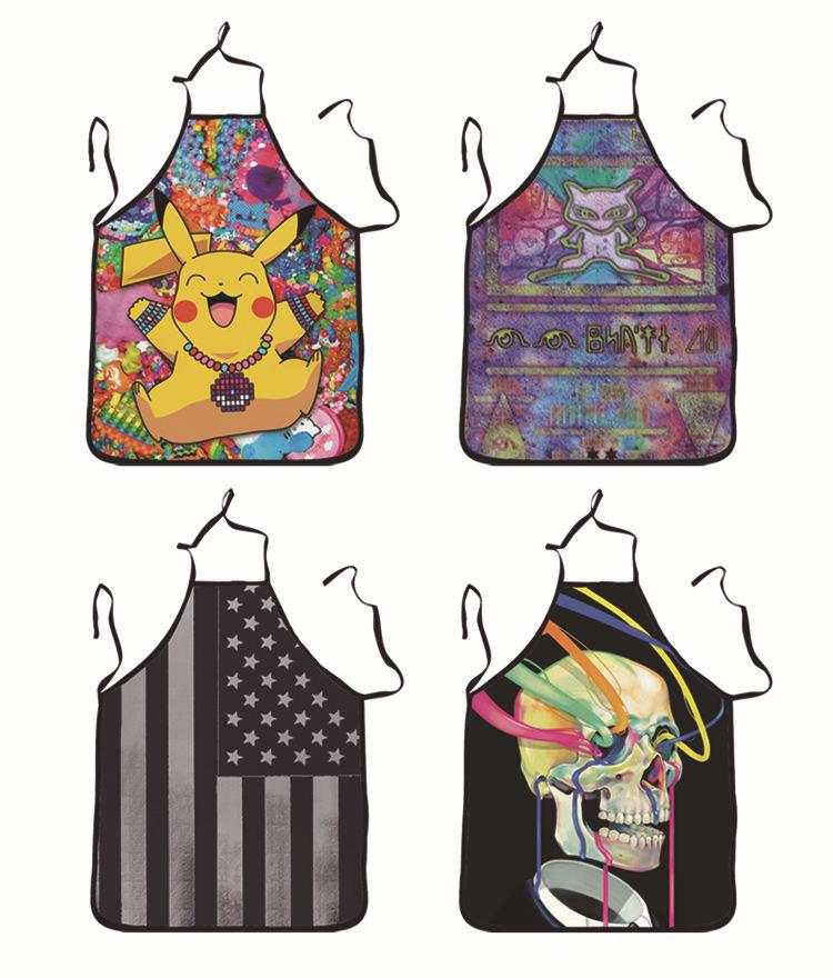 Picacho / character skeleton / national flag print apron custom home apron wholesale(China (Mainland))