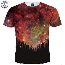 Buy Mr.1991INC New Fashion Men/Women 3d T-shirt Summer Tops Tees Digital Print Night Trees Space Galaxy 3d Tshirts for $9.12 in AliExpress store