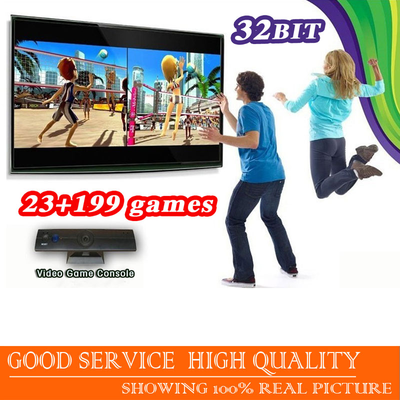 Free shipping new 2016 Video Game Console for children wireless tv game Body Motion Camera total 222 Games Inclucled(China (Mainland))