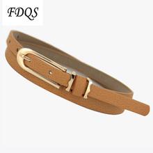 Free shipping 2014 new ladies fashion Thin belt female decoration mixed pigskin thin belt women small