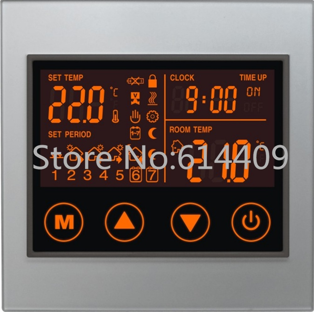 Malxs 50~60 Hz 110~240 V Ac 5A Touch Screen Programmable(Smart) Water Floor Thermostat for Hydronic Underfloor Heating System<br><br>Aliexpress