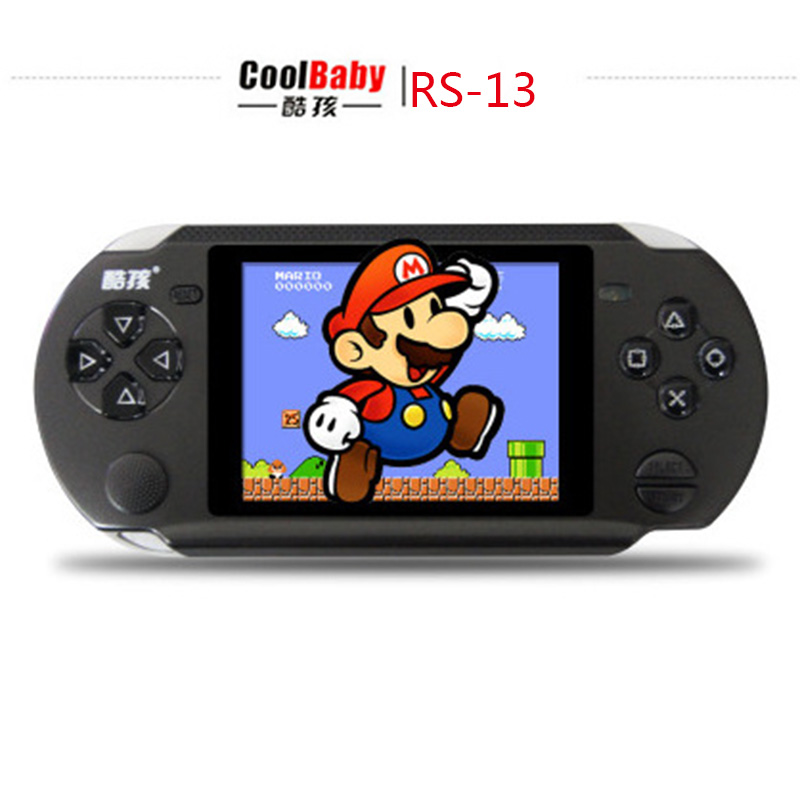 3.8 inch Players Games Console Handheld Game CoolBaby RS-13 Built 472 Games +128IN 1Card Games Support AV External handles jeux(China (Mainland))