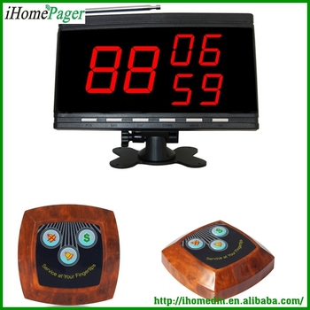 wireless hospital restaurant paging system show 3 groups of number display receiver
