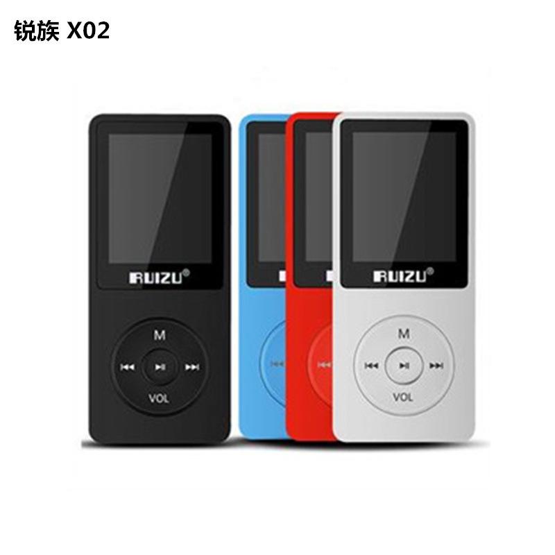 RUIZU clan MP3 X02 multi-color optional HIFI condition 1.8 inch screen The recording of e-books Very long video broadcast(China (Mainland))