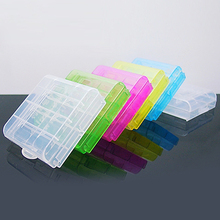 New Arrival 2x Battery Hard Plastic Case Holder Comtainer Storage Box Cover for AA AAA 14500 10440 Battery  5W1X