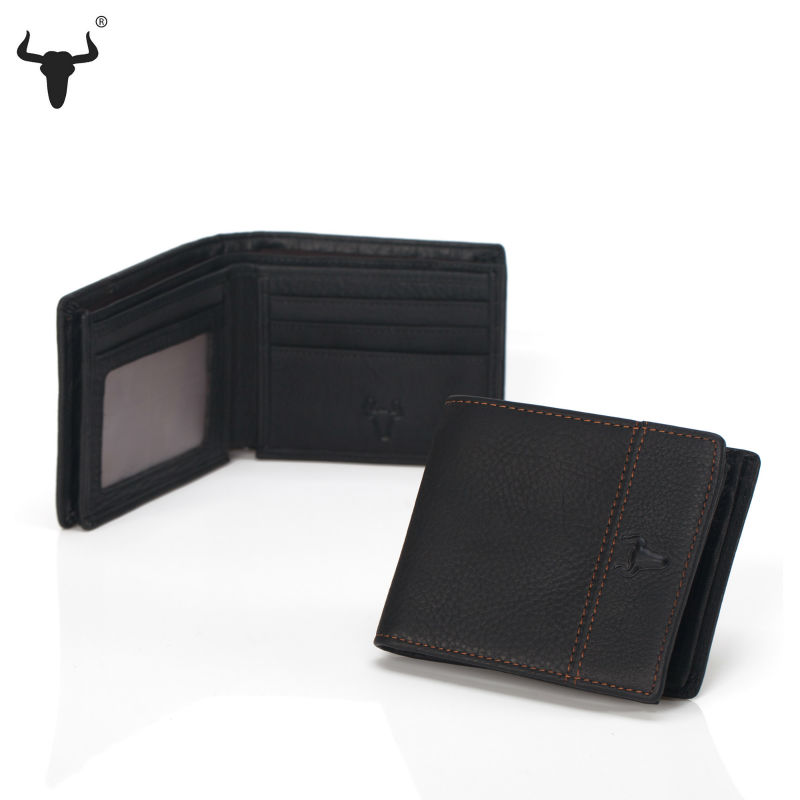 Men Wallets Men's Purse Retro First layer Of Leather Thicken Genuine Leather Standard Wallet Short Horizontal Casual Patchwork(China (Mainland))