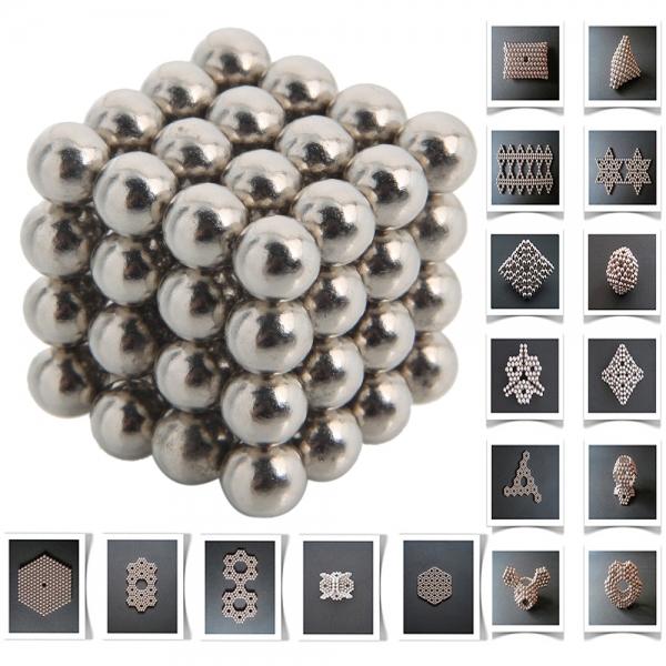 64 pcs 6mm Silver Magnetic magic cube Buckyballs Neo Cube Magic Magnetic balls(China (Mainland))