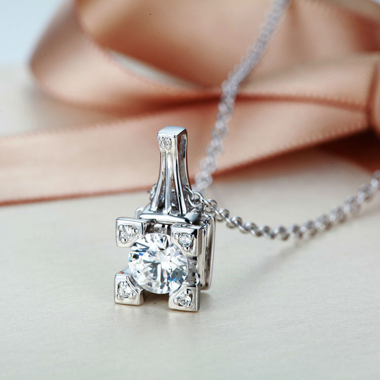 Eiffel Tower Pendant Necklace Paris Tower 925 Sterling Silver Necklace French Champs Elysees Kiss Fashion Jewelry Free Shipping(China (Mainland))