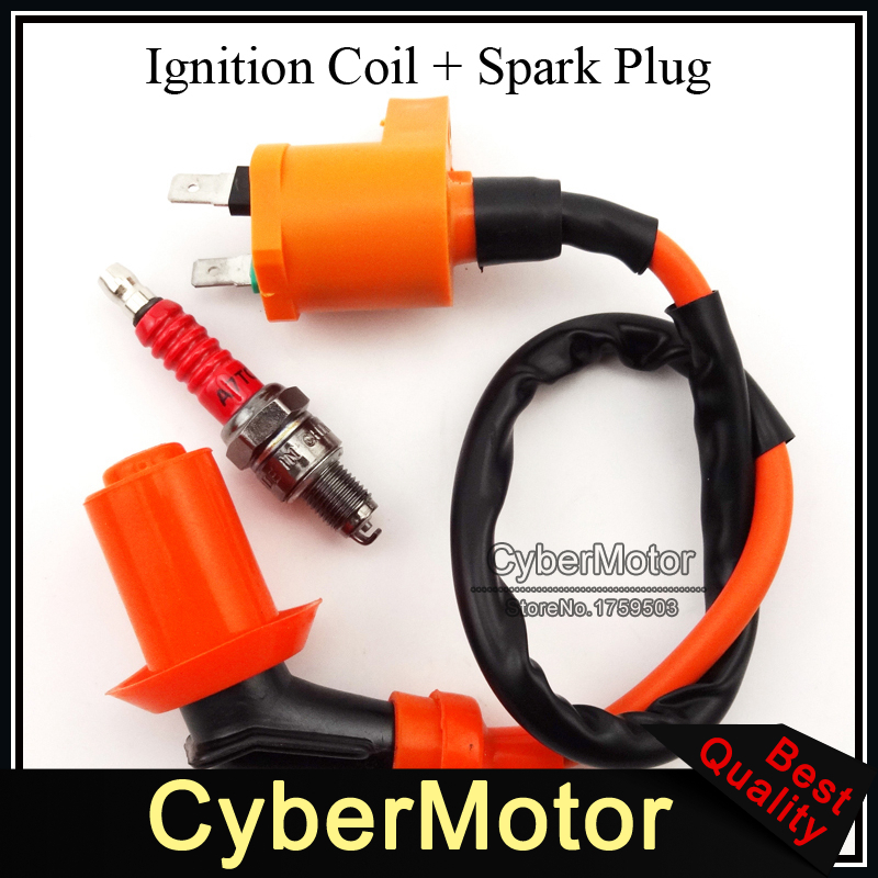 Performance Racing Ignition Coil A7TC Spark Plug Fit Chinese GY6 50cc 125cc 150cc Engine Moped Scooter(China (Mainland))