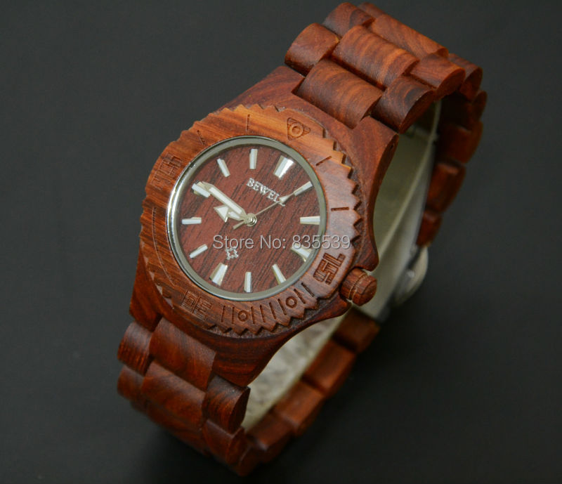 2015RED wood men watches luxury brand BEWELL fashion wristwatch clock Christmas gift 2 color - Your Amazing Life store
