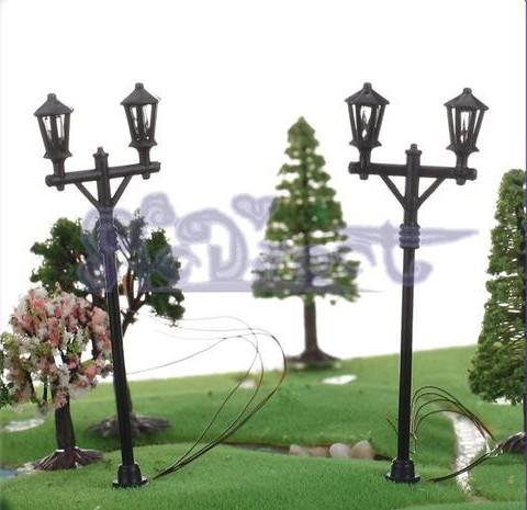 200pcs  Model(lamppost)Street lights(single head ) general scale , light LED12v<br><br>Aliexpress