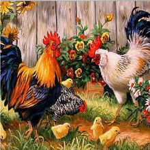 Chickens Explosion models Diamond painting embroidery square drill Diamond mosaic pasted Cross stitch Needlework Y33(China (Mainland))
