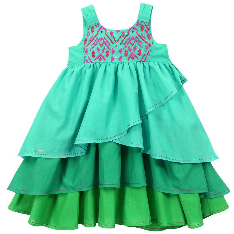 2014 new childrens girls baby gradient ramp Cotton cake Dresses wholesale<br><br>Aliexpress