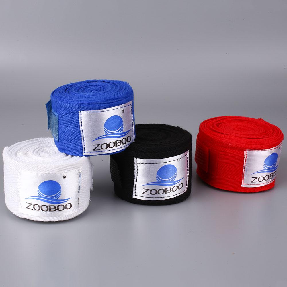 2Pcs/Pair 3M Cotton Punching Hand Wraps Boxing Inner Gloves Wrist Bandage Straps(China (Mainland))