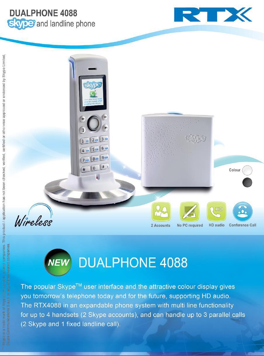 NEWS RJ45 port no need computer Cordless Skype phone 4088 Wireless skype phone Wifi skype phone RJ45(China (Mainland))