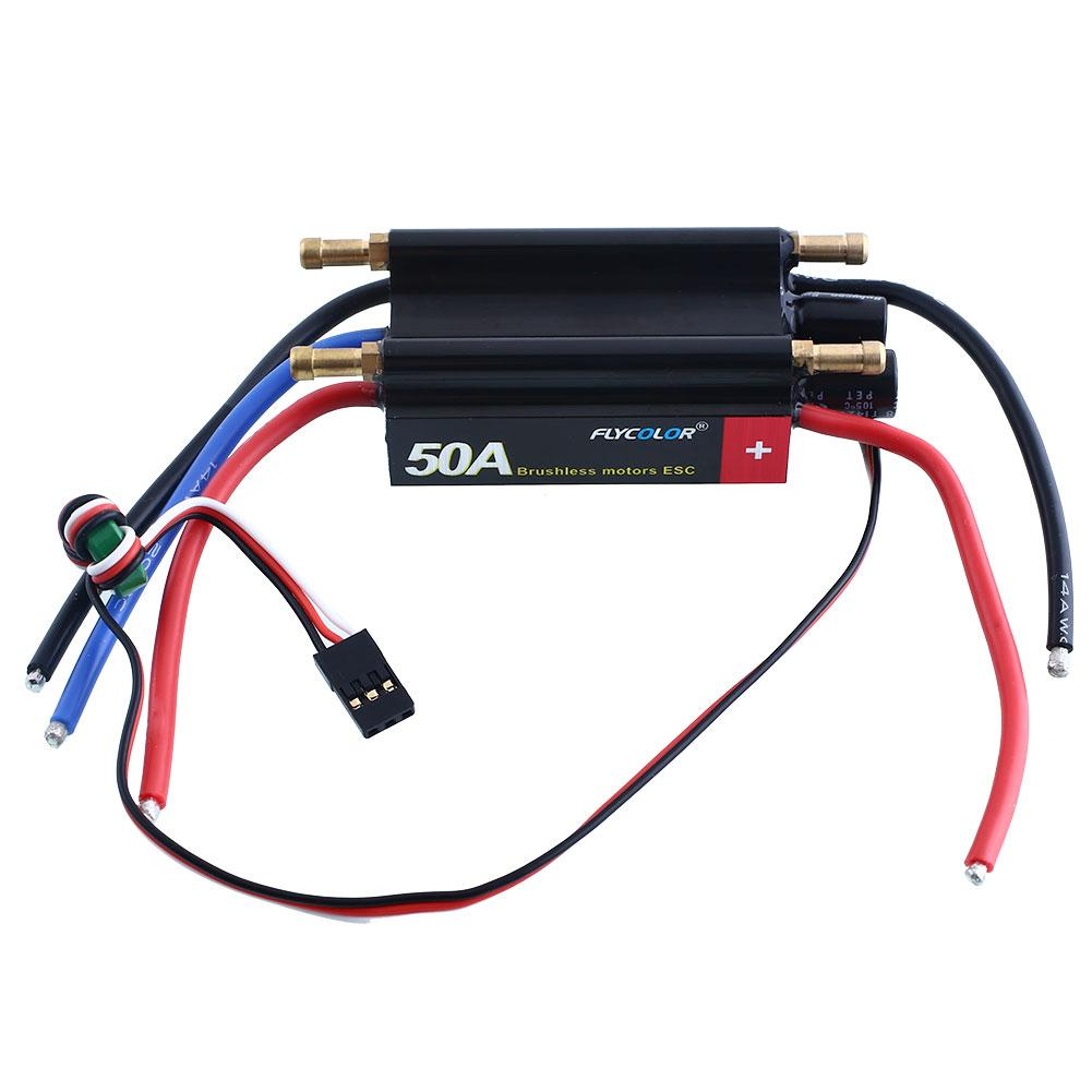 FlyColor 50A Water Cooling Brushless Motors Speed Controller ESC For R/C Boat(China (Mainland))