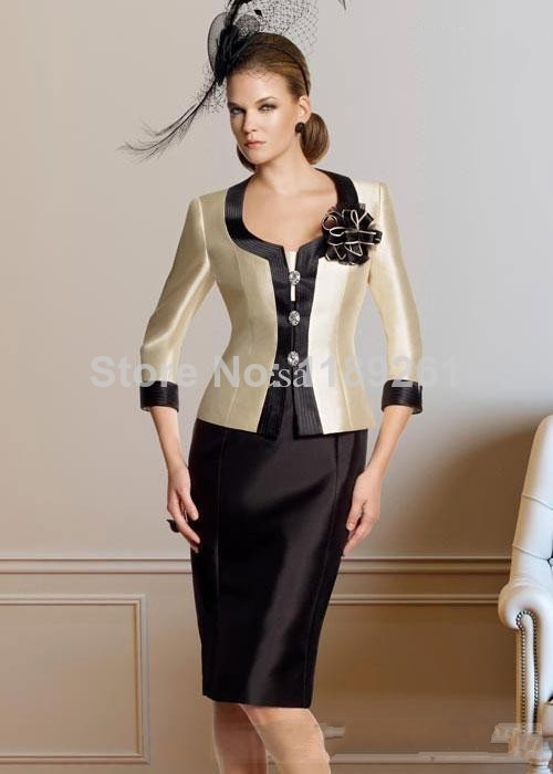 Wholesale modern attractive square neck knee length jacket flower s