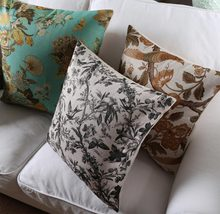 Free Shipping!!Fashion plant square throw pillow/almofadas case adult 45x45 53x53 60x60,nordic design cushion cover home decore(China (Mainland))