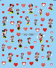 1X  Nail Art Water Transfers Stickers Nail Decals Stickers Water Decal  Mickey Mouse YU769(China (Mainland))