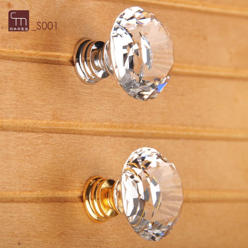 30mm Diamond Crystal Glass Drawer Door Cabinet Cupboard Wardrobe pull Handle Knobs LA5002-2, Aluminium Alloy and K9 Shiny <br><br>Aliexpress