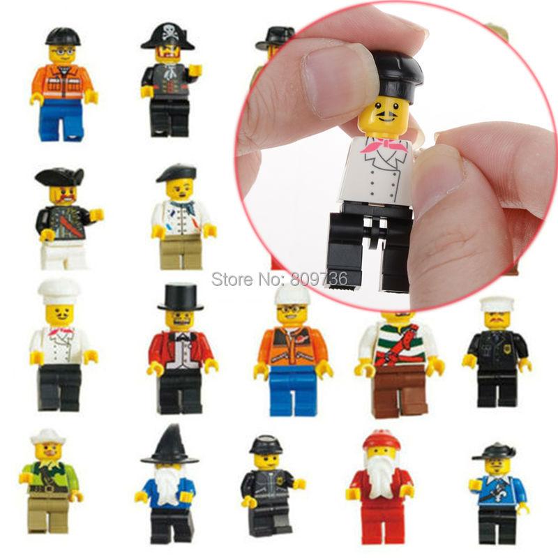 10pcs/lot New Cute Chic Random T Minifigure Figure Men People character Minifigs Grab Bag Kids Toys Children Gift Drop Free(China (Mainland))