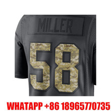 Men's Von Miller 58# Anthracite 2016 Salute to Service Free Shipping(China (Mainland))