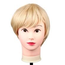 Golden Short Natural Curled Pure Graceful Vivid Blonde Fashion Side Fringe Lady Wig Hairpiece Periwig(China (Mainland))