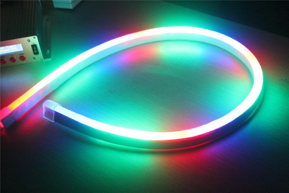 164ft 14x26mm 110V SMD5050 RGB chasing 80LEDs/M top quality brightness hotel building decoration use dream color led neon flex(China (Mainland))