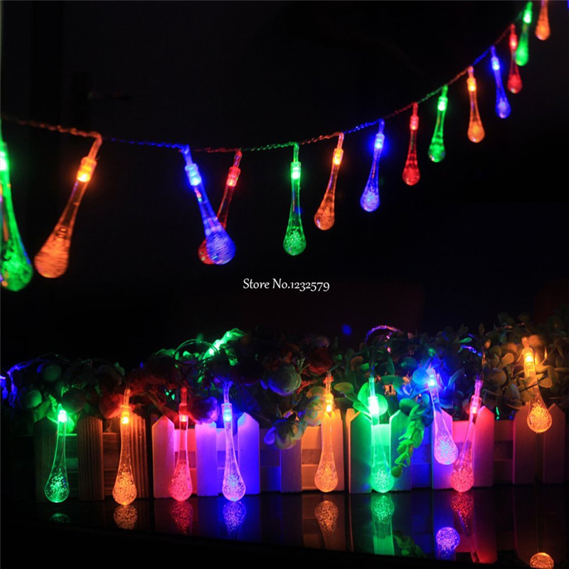 5M 30 LED Snowball Bell Star icicle Cherry Rose Fairy String Light Christmas Tree Lights For Party Outdoor Holiday Wedding Decor(China (Mainland))