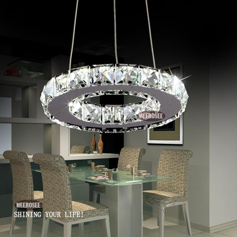 silver crystal ring led chandelier crystal lamp light. Black Bedroom Furniture Sets. Home Design Ideas