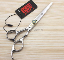 6.0Inch Kasho Cutting Scissors,Fashional Hair Shear for Salon Hairdressing,Human Hair Scissors with Bule Diamond ,1pcs LZS0154(China (Mainland))
