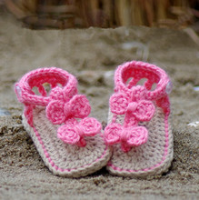 10%off ! HOT SALE Knit baby shoes For 0-12 months Lovely Crochet  First walker shoes.1pairs/2pcs(China (Mainland))