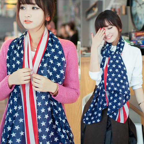 lady Chiffon Scarf winter in Europe and the United States flag cashmere scarves wholesale manufacturers selling high-end(China (Mainland))