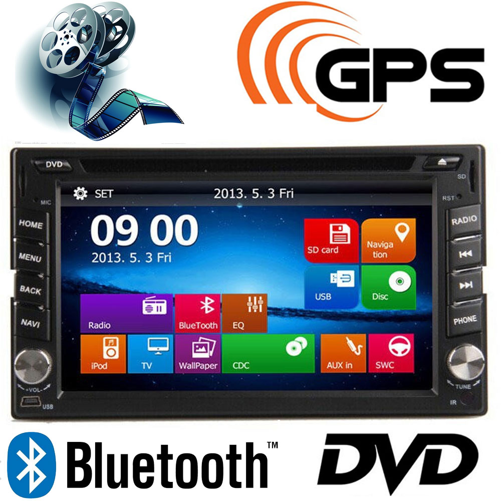 6.2inch TFT 2 Din Car DVD Player GPS MP5/MP4 USB/SD Bluetooth FM/AM Radio Car Audio for BMW/Mazda/Opel/VW/Honda/Skoda/Golf<br><br>Aliexpress