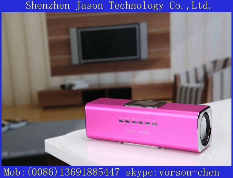 programmable portable usb sd card mini speaker fm radio(China (Mainland))