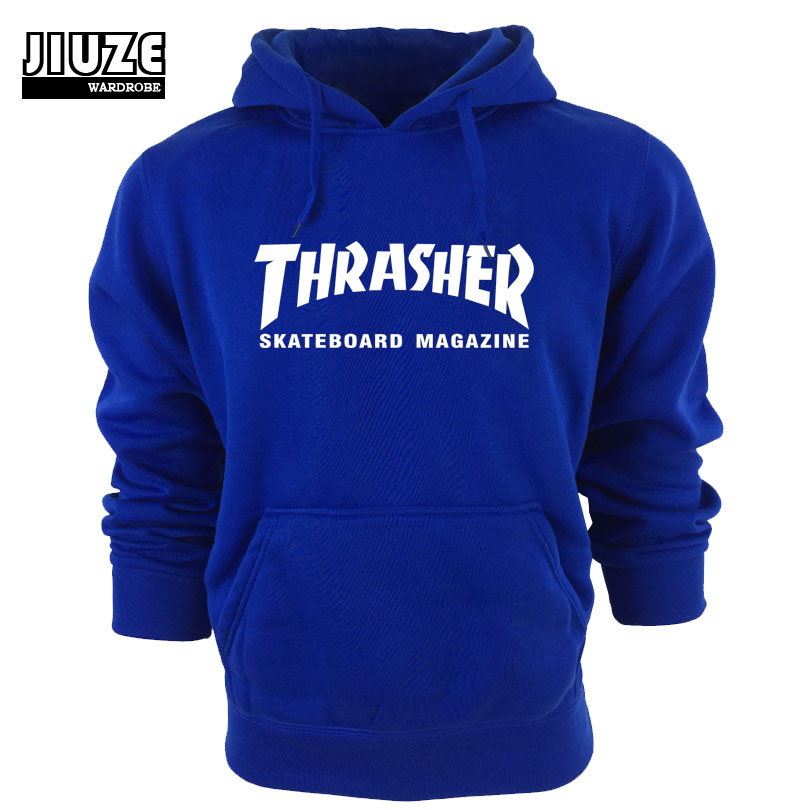 Winter Clothes Fleece Trasher Hoodie Hip Hop Skateboard thrasher Hoodie Men Sweatshirts Pullover Track suit Element Hoodies(China (Mainland))
