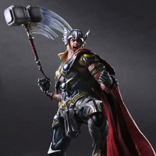 2016 Play Arts Kai Superhero The Mighty Thor Action Figure The Avengers Thor Model Figure Toy Kids Gift PA0021