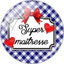 Carta Francês Super Maitresse JWEIJIAO Imagem Vidro Cabochão Dome Para Chaveiro Colar Encantos DIY Personalizado Presente da Mãe(China)