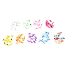 50PCS 9Colors PVC Plastic Clips For Patchwork Sewing DIY Crafts, Quilt Quilting Clip Clover Wonder Clip 2.7*1CM(China (Mainland))