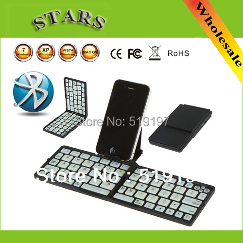 2013 fasion New Folding 3.0 Bluetooth Wireless Keyboard case Stand iPhone Tablet PC Smart Phone Black/White - Shenzhen Sun-Stars Technology Co,.Ltd store
