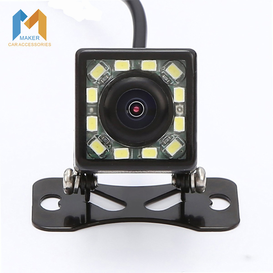 2015 Newest 12 LED Super Nightvison CCD Car Rear View Camera Waterproof Car Backup Camera 170 Degree Viewing Angle Car Styling<br><br>Aliexpress
