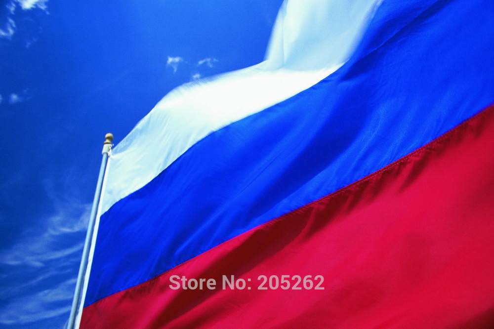 oriflamme 3ft x 2ft Hanging Russia Flag Polyester Russia National Flag Banner Outdoor Indoor 64x96cm Christmas's gifts(China (Mainland))