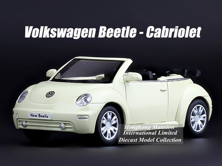 1:36 Scale Alloy Diecast Metal Car Model For TheVolks wagen New Beetle Cabriolet Collection Model Pull Back Toys Car(China (Mainland))
