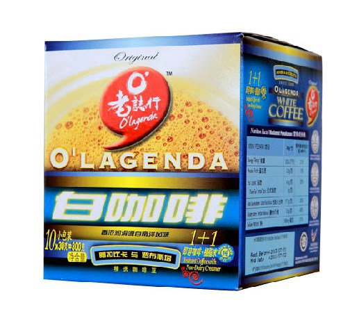 Yi chang LaoZhiHang Sugar free Milk White Coffee Old Taste Malaysia OLAGENDAl Two in one Instant