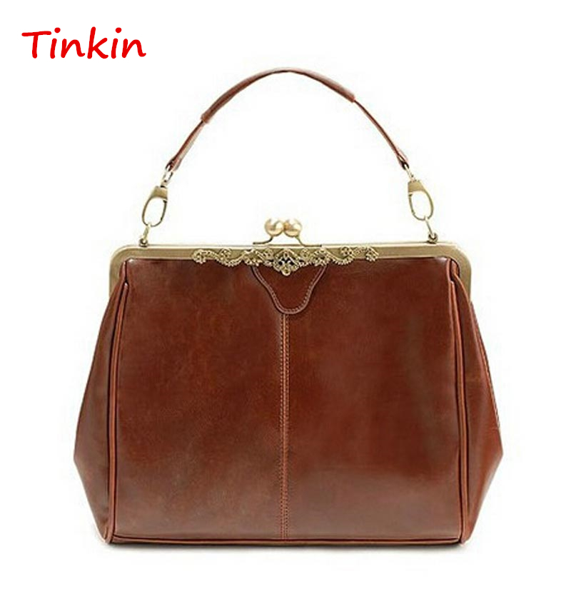 Tinkin women handbag brand women messenger bags Europe style Retro PU leather shoulder bag fashion women bags(China (Mainland))