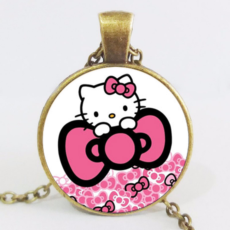 online kaufen gro handel glass hello kitty necklaces aus. Black Bedroom Furniture Sets. Home Design Ideas