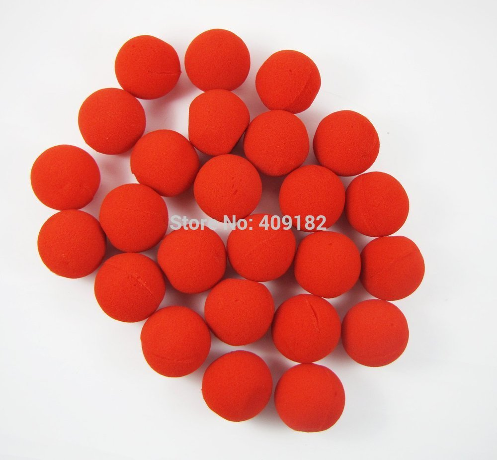 150 Pcs/Lot Funny RED Foam Ball Clip Circus Clown Nose Comic Halloween Christmas New Year Costume Party Magic(China (Mainland))