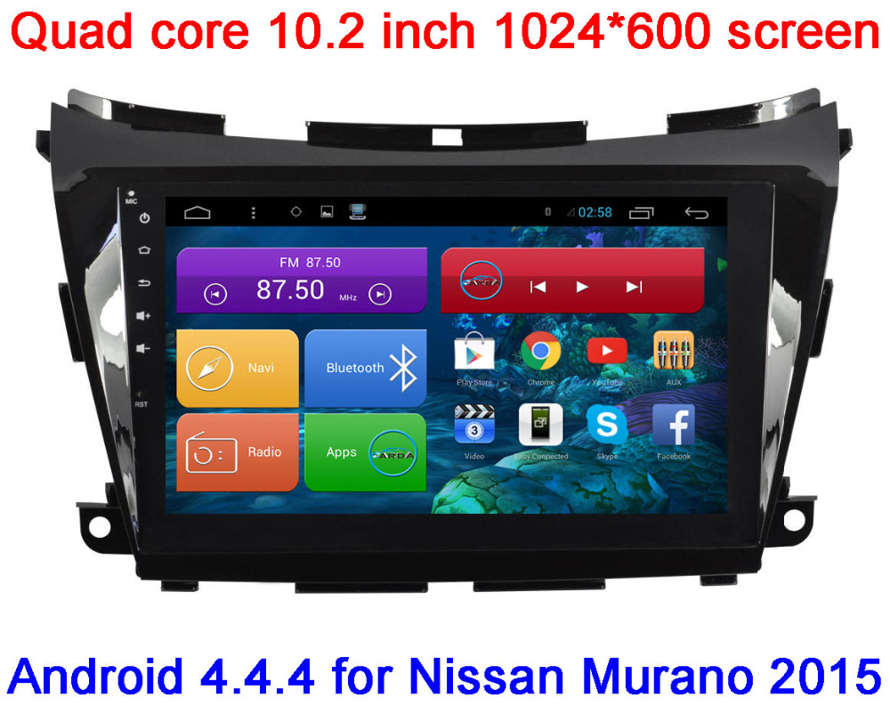 """Quad Core 10.2"""" HD 1024*600 Android 4.4 CAR DVD GPS FOR Nissan Murano 2015 With 3G WIFI Radio RDS Stereo+ Map+External Mic(China (Mainland))"""