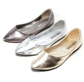 New 2016 PU with flat women s shoes soft bottom soft leather shiny loafers pointed rubber